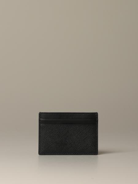 Bhar.of Bally credit card holder in coated canvas with trainspotting