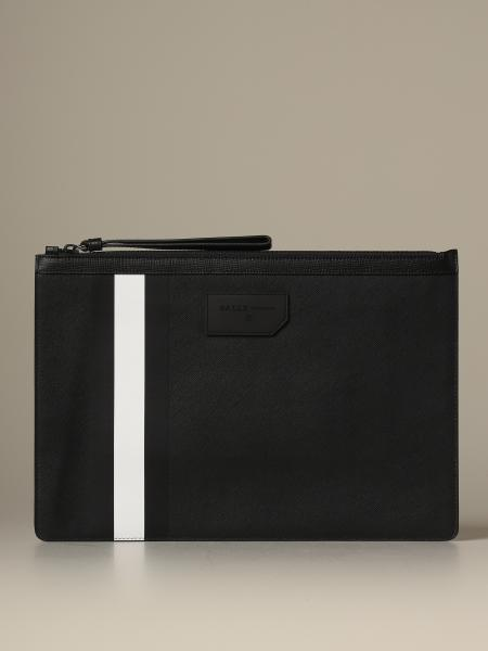 Bollis Bally pouch in coated canvas with trainspotting