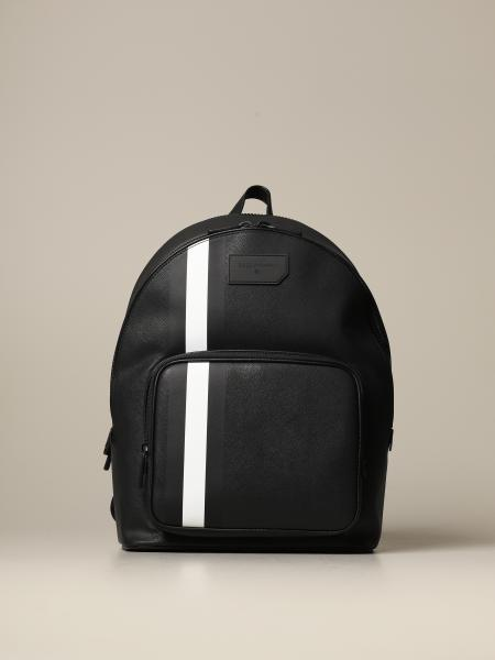 Sarkis Bally backpack in synthetic leather with trainspotting canvas band
