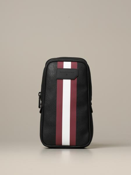 Tanis Bally backpack in saffiano coated canvas with trainspotting band