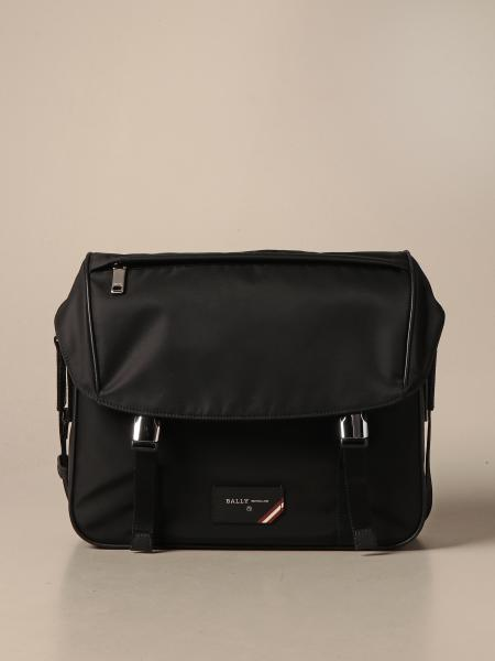 Borsa Fabro messenger Bally in nylon con fascia trainspotting