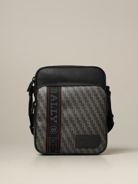 Sebert Bally bag in saffiano leather and logoed canvas