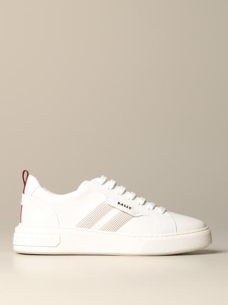 Maxim Bally sneakers in leather with trainspotting band