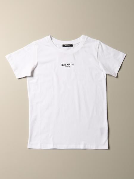 T-shirt Balmain in cotone con mini logo
