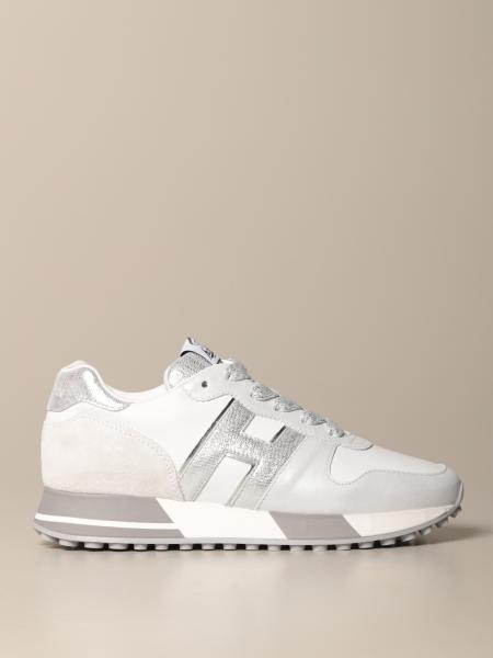 H383 running Hogan sneakers in leather with laminated H