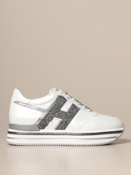 Hogan Midi H468 sneakers in satin leather with glitter H