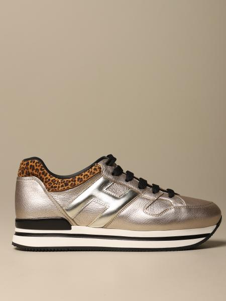 H222 Hogan running sneakers in laminated leather