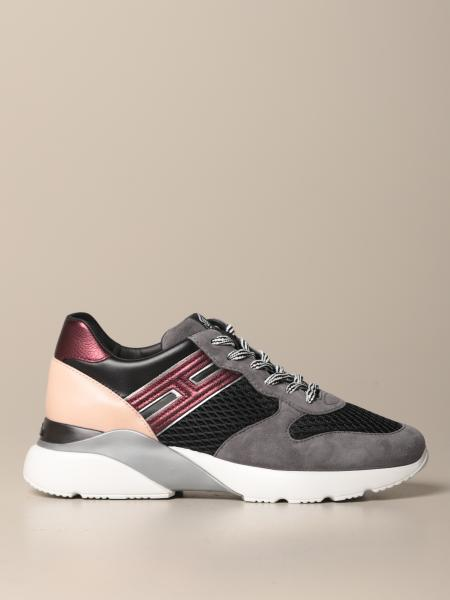 Active One Hogan sneakers in suede and mesh with 3D H