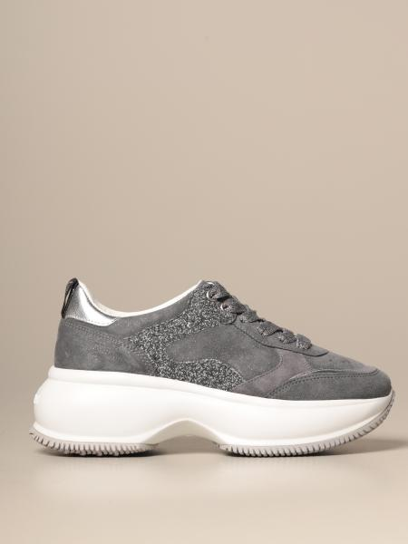 Sneakers Maxi I Active Hogan in camoscio