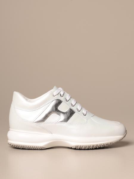 Interactive Hogan sneakers in leather with rounded H