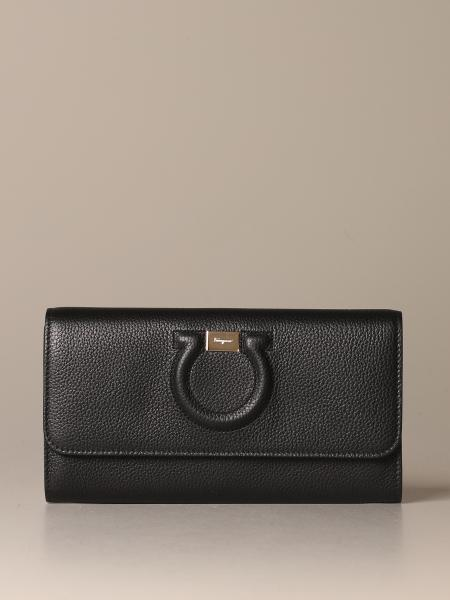 Salvatore Ferragamo Gancini textured leather bag