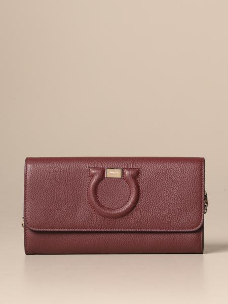 Salvatore Ferragamo Gancini textured leather bag