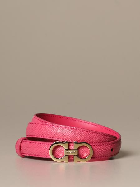 Salvatore Ferragamo Gancini belt in score leather