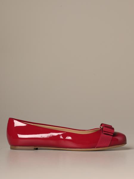 Varina Salvatore Ferragamo ballerina in patent leather