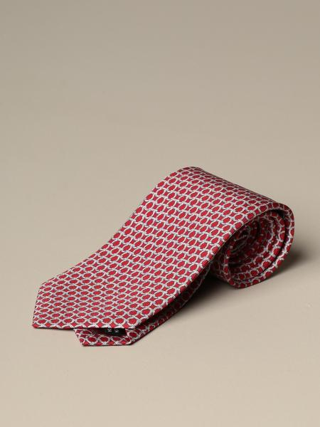 Salvatore Ferragamo men: Salvatore Ferragamo silk tie with Gancini pattern