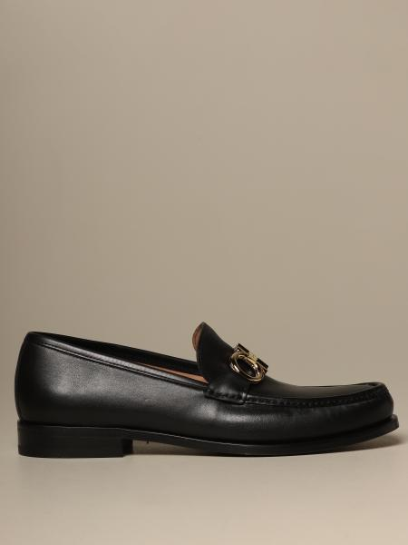Salvatore Ferragamo men: Rolo Salvatore Ferragamo leather loafer with Gancini clamp