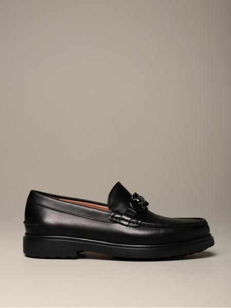 Salvatore Ferragamo men: Salvatore Ferragamo Ready loafer in leather with Gancini clamp