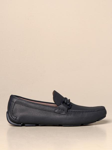 Salvatore Ferragamo men: Driver Gancini Salvatore Ferragamo loafers in hammered leather