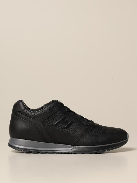 Hogan men: H321 Hogan sneakers in leather with H flock
