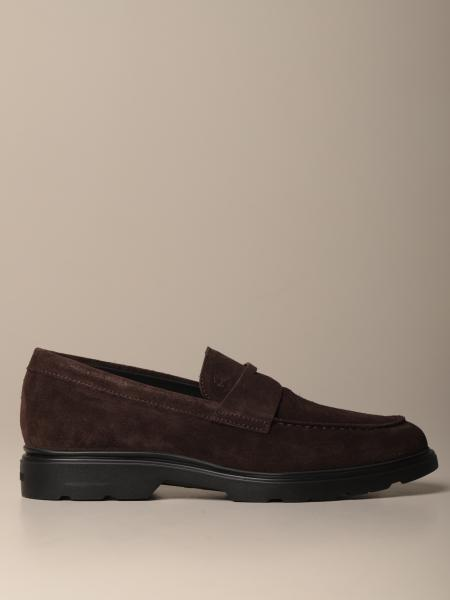 H393 Hogan moccasin in suede