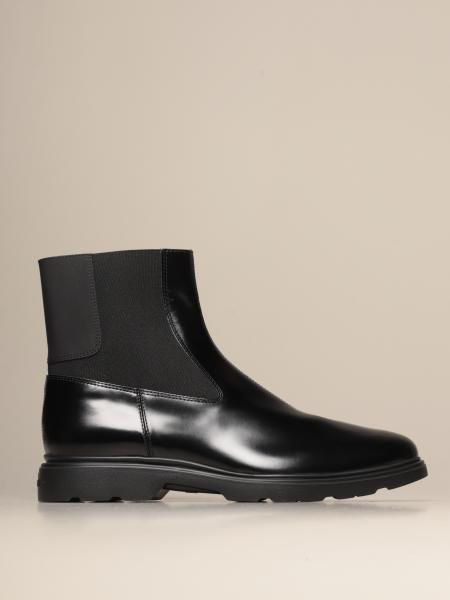 Hogan men: H393 Hogan Chelsea boot in brushed leather
