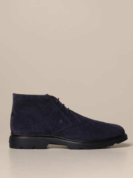 H393 Route Hogan suede ankle boot with memory sole