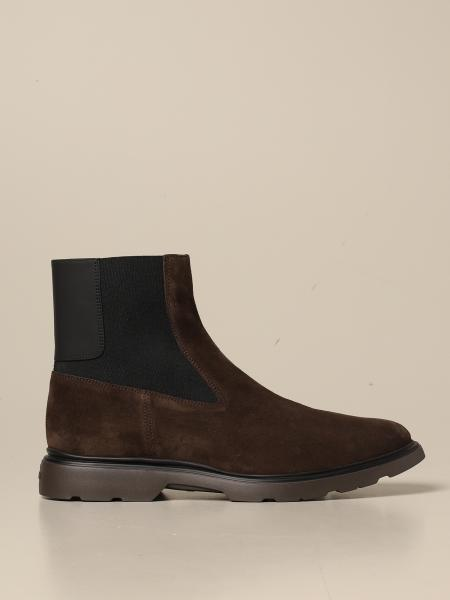 Hogan men: H393 Hogan Chelsea boot in suede