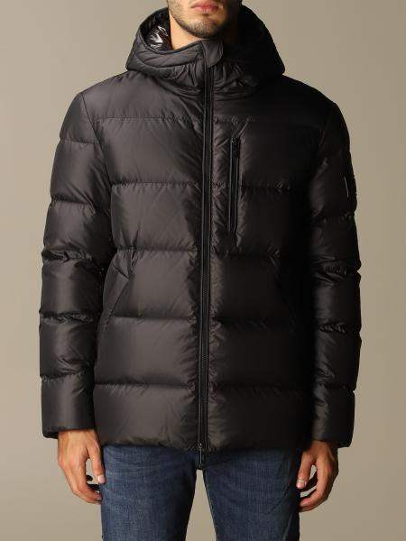 Hogan men: Hooded down opaque nylon jacket