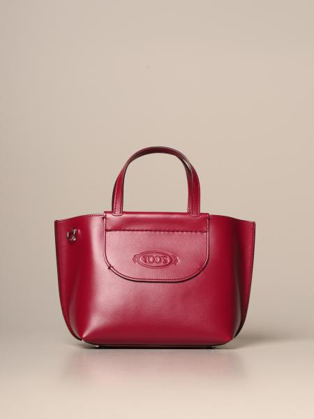 Tod's mini shopping bag in leather with shoulder strap