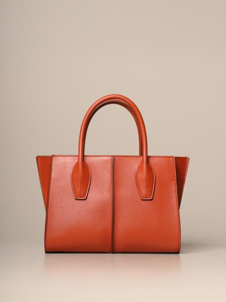 Tod's shopping bag in leather with shoulder strap