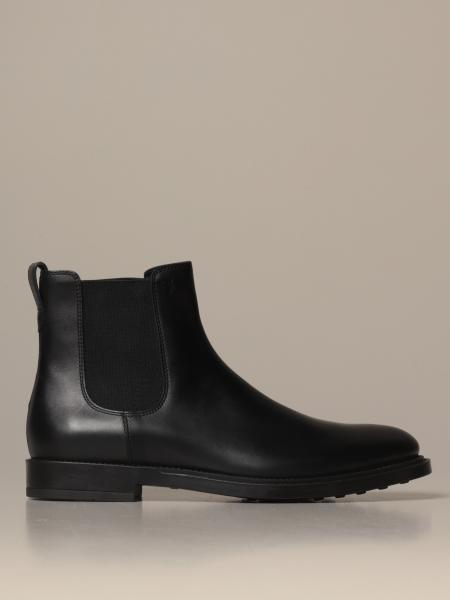 Tod's slip on ankle boot in smooth leather