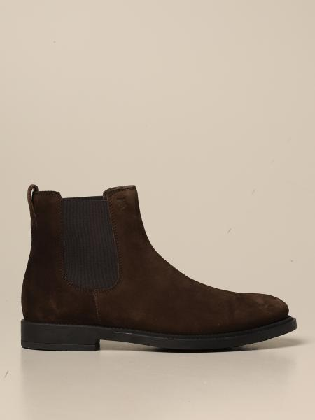 Tod's slip on boot in suede