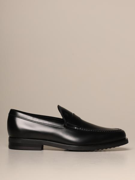 Tod's moccasin in leather with rubber sole