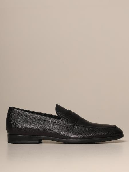 Tod's moccasin in grained leather with rubber sole