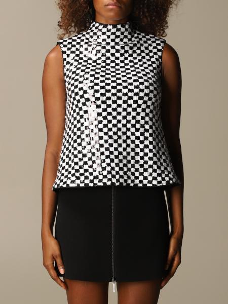 Emporio Armani checkered sequin top