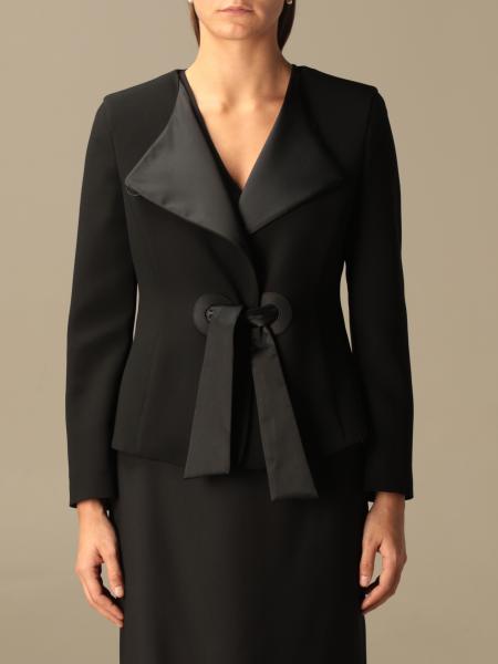 Emporio Armani jacket in crepe and satin