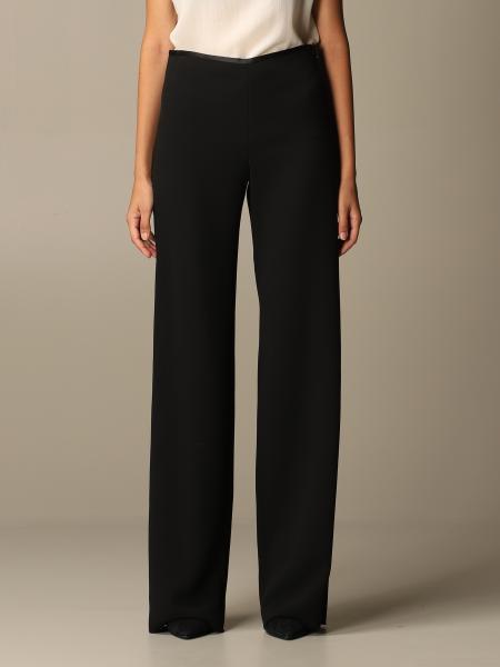 Pantalone ampio Emporio Armani in crêpe