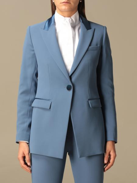 Emporio Armani single-breasted jacket in technical fabric and satin