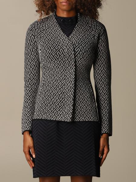 Emporio Armani patterned asymmetrical jacket