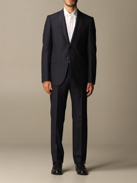 Emporio Armani single-breasted suit in pinstripe wool 240 gr drop
