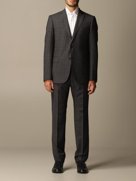 Emporio Armani single-breasted suit in check wool 230 gr drop 7