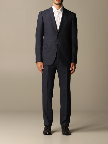 Emporio Armani single-breasted suit in wool blend 290 gr drop 7