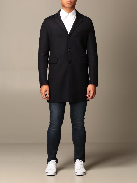 Classic single-breasted Emporio Armani coat