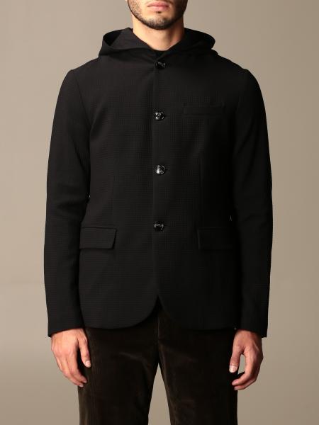 Emporio Armani single-breasted jacket in technical fabric