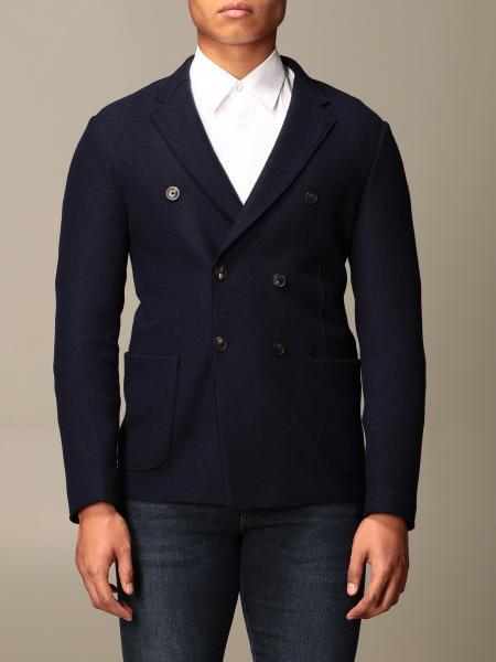 Giacca a doppiopetto Emporio Armani in lana cotta