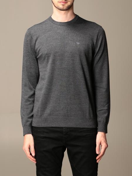 Emporio Armani sweater in virgin wool with logo