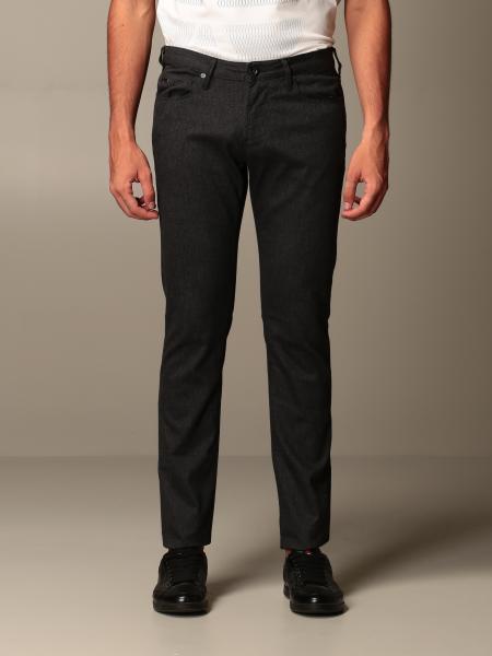 Emporio Armani trousers in slim fit cotton blend