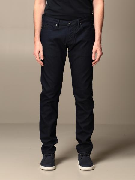 Pantalone Emporio Armani in armaturato di cotone stretch