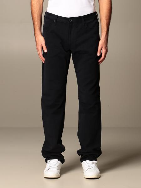 Emporio Armani trousers in soft cotton twill