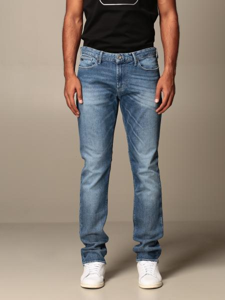 Jeans Emporio Armani in denim used stretch